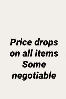 Dropped prices need items gone