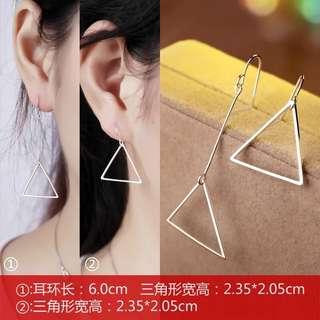 🚚 (現貨)女神純銀三角形耳環