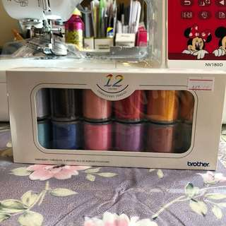 Brother Embroidery threat 12 colour set (ETS-12N)