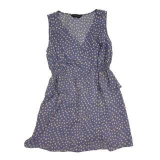 Dorothy Perkins polka dot purple dress