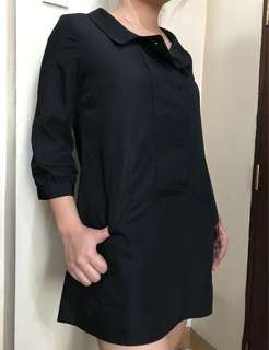 DKNY black dress/blouse,fits to small to medium