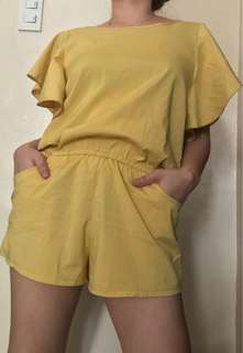 Light yellow Romper,fits to small to medium