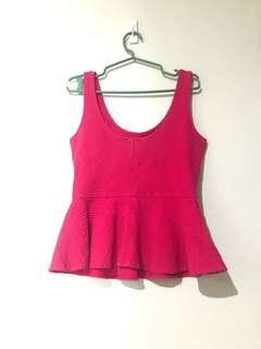 Ganni Fuschia Pink Sleeveless top,fits to small to medium