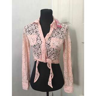 Candie's Pink Lace Top