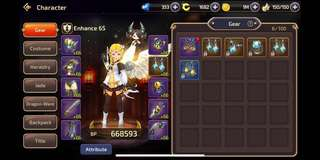 Selling account Dragon nest mobile M1