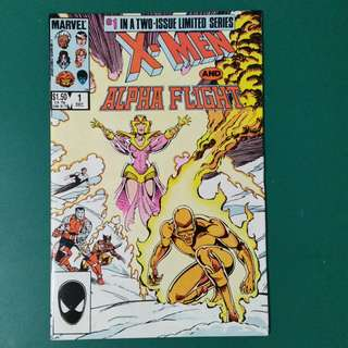 X-Men/Alpha Flight No.1&2 comics