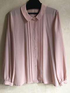 購自日本古著粉紅色襯衫9成新日本製