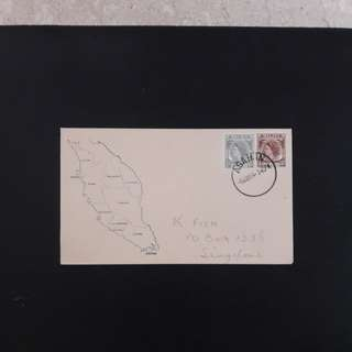 Malacca  1957 First Day Cover