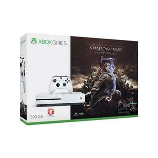 Xbox One S 500GB Shadow of War bundle