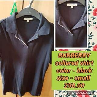 BURBERRY balck collared shirt