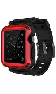 Simpeak Rugged Case for Apple watch 42mm(3 colors set)(Built-in SP)- Red/Black/Gray