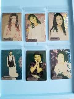 POLYGRAM 簽名閃卡 90年代 歌手 周慧敏 王馨平 劉小慧 湯寶如 周淑怡 黎瑞恩