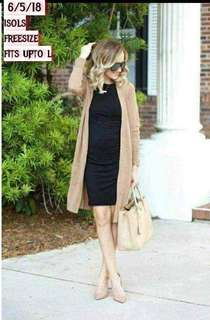 Cardigan+dress terno