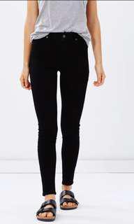 Cheap monday high spray black jeans s