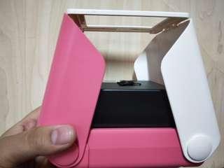 日本printoss拍立得粉色95成新,包兩盒相纸