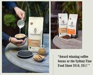 🚚 澳洲 Grinders 咖啡豆 -Crema 風味 (1000g)