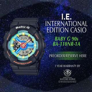 CASIO INTERNATIONAL EDITION BABY G 90s CULTURE SERIES BA110NR-1A