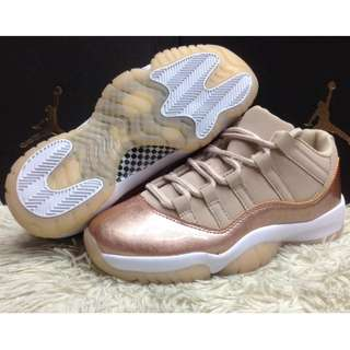 GIRL'S JORDAN 11 ROSE GOLD RETRO LOW-CUT