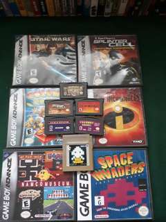 Gameboy advance games with customised case