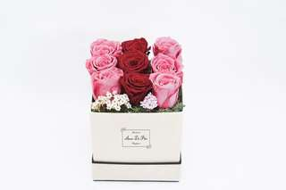 9 preserved real roses box great for wedding deco/birthday/anniversary gift