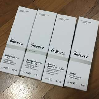 BNIB The Ordinary Skincare Products