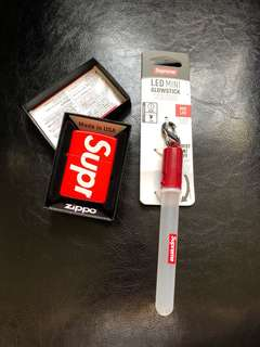 Supreme zippo 打火機 mini glowstick 燈 cap
