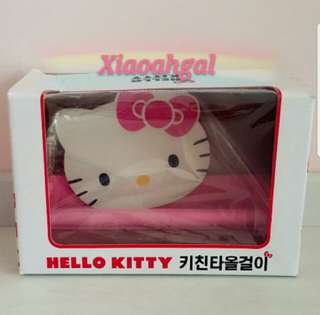 🌷Quote ur own price⏩MY FOLLOWERS ONLY🌷🚫Non Follower No Discounts🚫🐰AUTHENTIC BRAND NEW IN PLASTIC IN BOX🐰🌻Limited Edition🌻Sanrio Original Pink Kitchen Scotts Paper Holder Rank Hanger💋No pet No smoker Clean hse💋