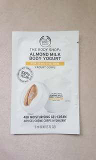 Almond milk yogurt lotion
