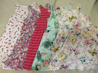 H&M Dresses Lot of 5 size 2-4