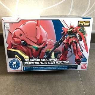 高達 模型 RG Shinaju 新安州 Gundam Unicorn Metallic Gloss ver 台場限定