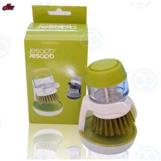2 in 1 Dishwashing & Soap Dispenser Brush w/ Stand