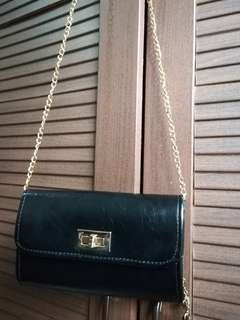 Black small cross body purse