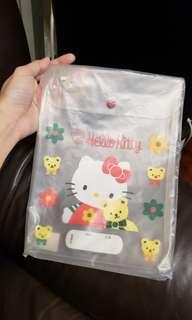 全新 Sanrio Hello Kitty 透明袋一個 made in Japan 1994年產品