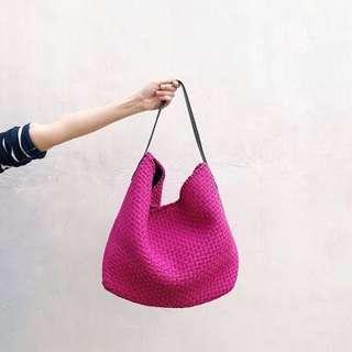 Rags2Riches Fuschia Pink Buslo Bag