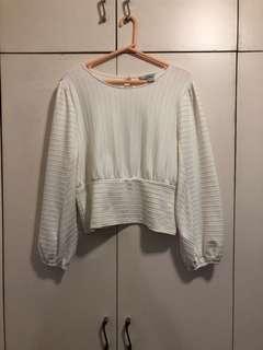 H & M white blouse size medium