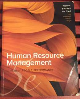 Human Resource Management Textbook Kramar et al. 5th edn