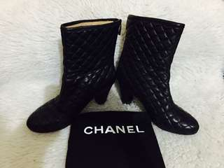 Authentic Vintage Chanel Quilted Booties