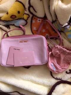 Miu Miu 粉紅色 拼色 手袋 全新