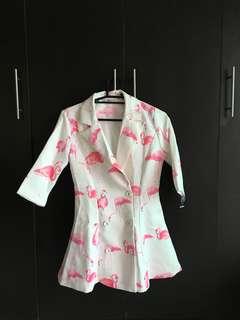 BNWT Flamingo Neoprene Coat
