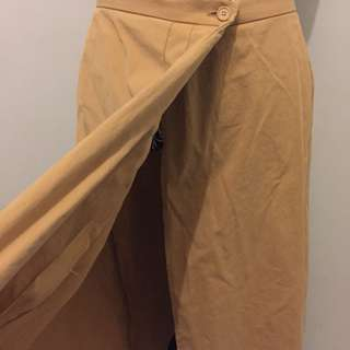 Khaki Wrap Skirt
