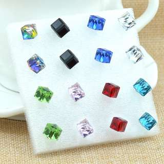 Wing Bling Inspired Magic Square Earrings 6mm