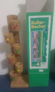Wooden Tower with Toppling Cup
