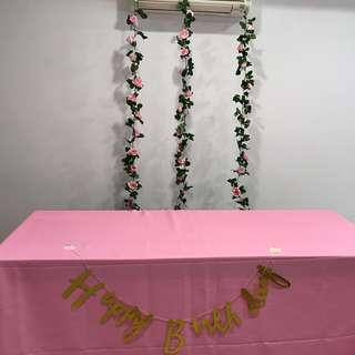 Flower Vines for Backdrop Birthday Decorations