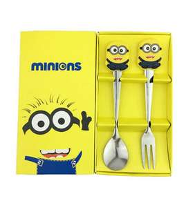 Minion Spoon n Fork Set