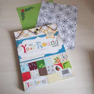 Scrapbook paper by DCWV- the year round stack