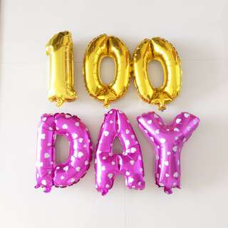 Baby Girl 100 Day Party Balloon Decorative Set