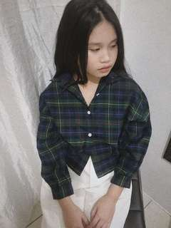 Plaid Cropped Long Sleeves