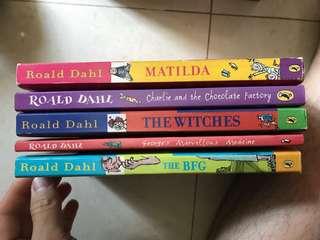 Roald Dahl 兒童故事書5本