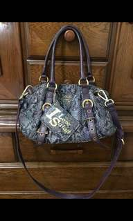 Authentic Salad Snakeskin 2 way bag