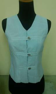 Blouse - Baby blue striped
